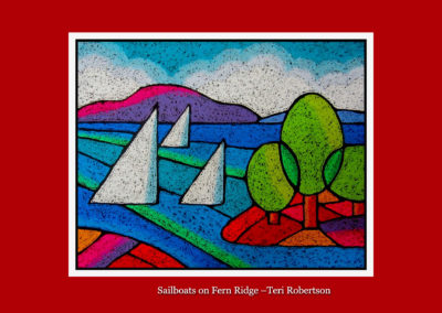 Sailboats on Fern Ridge-Teri Robertson